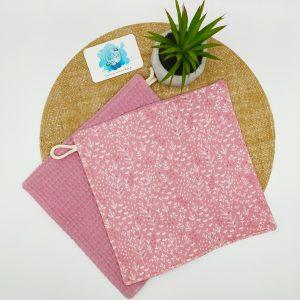 Essuie-tout floral rose